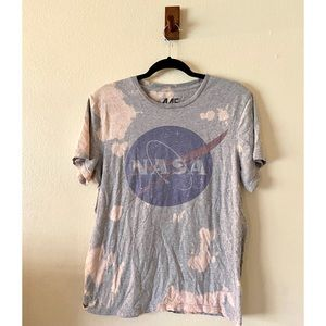 NASA Graphic Tee Bleach Dyed Size Large
